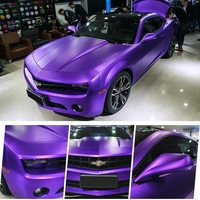 2pcs 50*150 Metal Feeling Car Body Film Silver Purple Pink Blue Matte Car Vinyl Wrap Paper Styling Wrapping Stickers