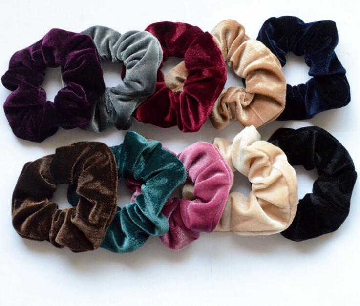 New arrival women's winter velvet hair Scrunchies Hair Tie Hair Accessories lady's Ponytail Holder