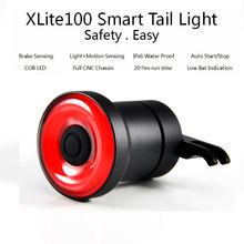 Фонарь велосипедный xlite100 светодиодный с датчиком торможения