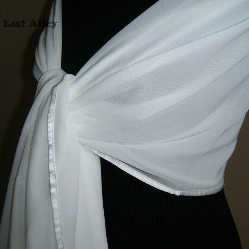 82e26468e6 Bride Chiffon Wedding Accessories Shrug Wrap Shawl Married Scarf Bridal  Stole Thin Cape-in Wedding Jackets / Wrap from Weddings & Events