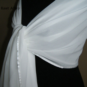 Image 1 - Bride Chiffon Wedding Accessories Shrug Wrap Shawl Married Scarf Bridal Stole Thin Cape