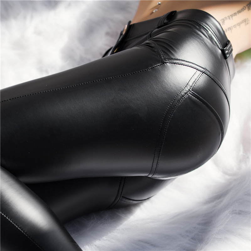 Women Leather Yoga Pants Push Up Shaping Fitness Leggings Autumn Winter Fleece Inside Tummy Control training tights Fallindoll in Yoga Pants from Sports Entertainment