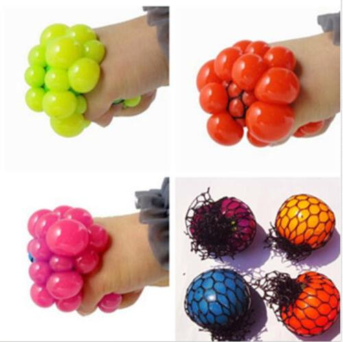 1Pcs Funny Geek Gadget Vent Gaps Toy Cute Grape Ball Anti Stress Face Reliever Autism Mood Squeeze Relief Healthy Toy