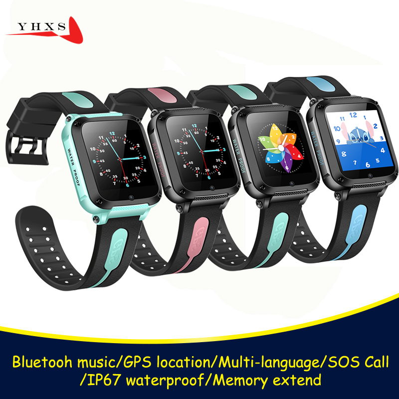 IP67 Waterproof Smart GPS Location SOS Call Remote Monitor Camera Wristwatch Tracker Kids Child Students Bluetooth Music Watch-in Smart Watches from Consumer Electronics on AliExpress