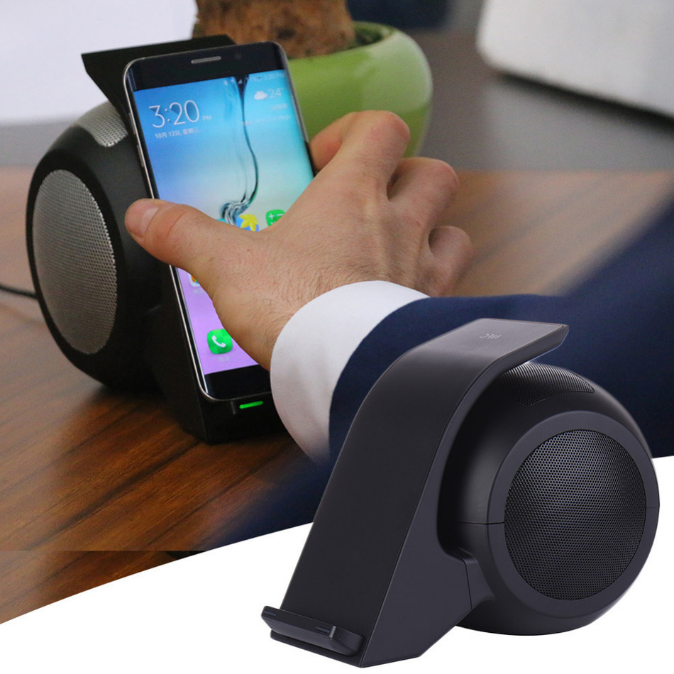 Fast Wireless Fast Charger Bluetooth Speaker Stand Quick Charge rfor iPhone 6 6s Plus for Samsung Huawei Miezu Xiaomi