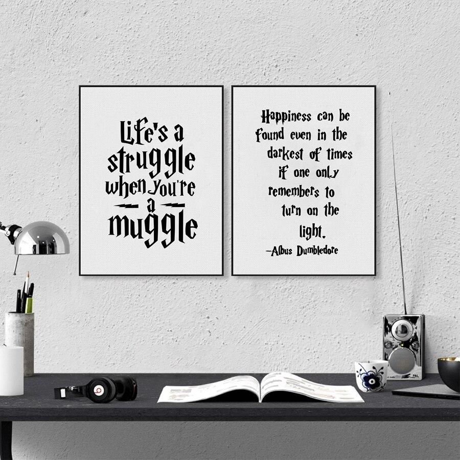 Albus Dumbledore Wall Art Decor Canvas Prints Poster , Harry Potter Quote Canvas Painting Home Kids Room Decoration 1