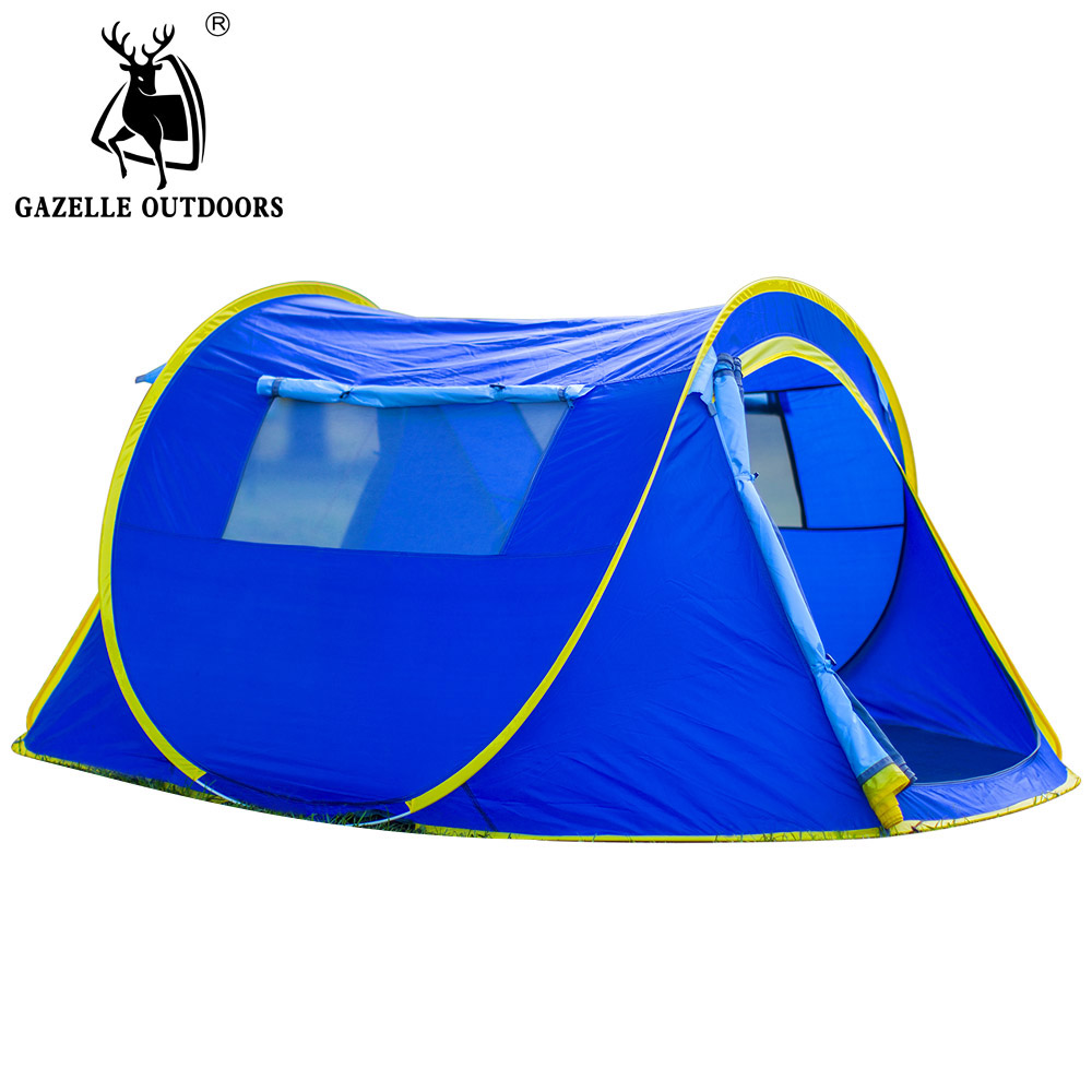 Automatic 2-3 Person Single Layer Camping Tent Beach Tent Playing Barraca