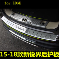 Stainless Steel Paint Rear Bumper Protector Sill Trunk Tread Plate Trim for Ford EDGE 2015 2018 Car styling