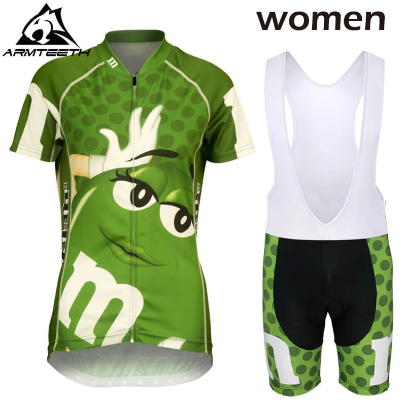 Hot 2017 Summer Short Sleeve Cycling Set Mountain Bike Clothing Breathable Bicycle Jerseys Clothes Maillot Ropa Ciclismo Green 176 hot cycling jerseys magnolia flowers hot cycling jersey 2017s anti pilling female adequate quality sleeve cycling clothing f