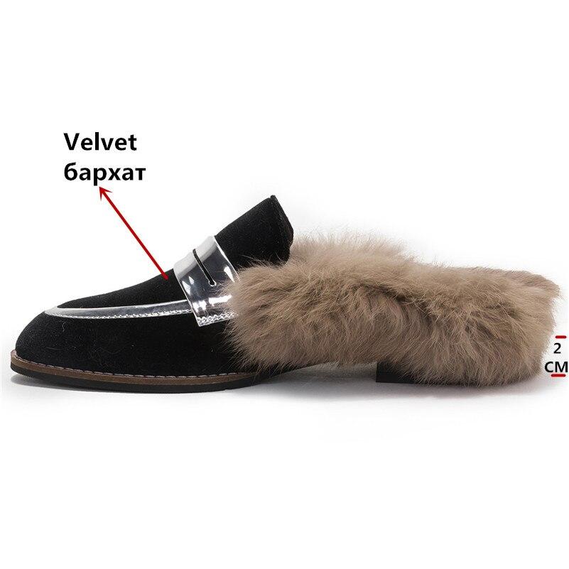 Pantoufles Partie Velours Fourrure De Noir 1 Confort Chaud Femme Mariage Marque Loafter Dames Mode Femmes Chaussures Casual Conasco 5vZqHZ