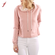 FEITONG Womens Long Sleeve Hoodie Sweatshirt Fashion Hooded Pullover Tops Blusa Autumn Winter Casual Loose pullover Female 2017