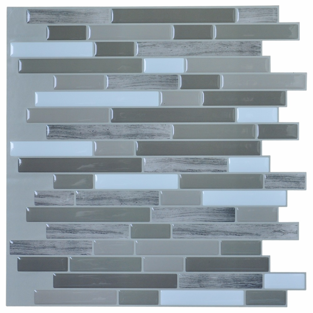 Stick Backsplash Tiles for Bathroom and Kitchen 12\'\'x12\'\' Peel and ...