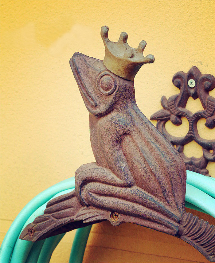 Vintage Cast Iron Wall Mounted Hose Holder, Frog Hose Hanger Rustic ...