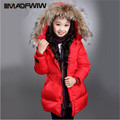 Girls Winter Outerwear Coat Cotton-padded Jacket Fashion Big Collar Solid Children's Wadded Jacket 2016 New Arrival Size 110-160