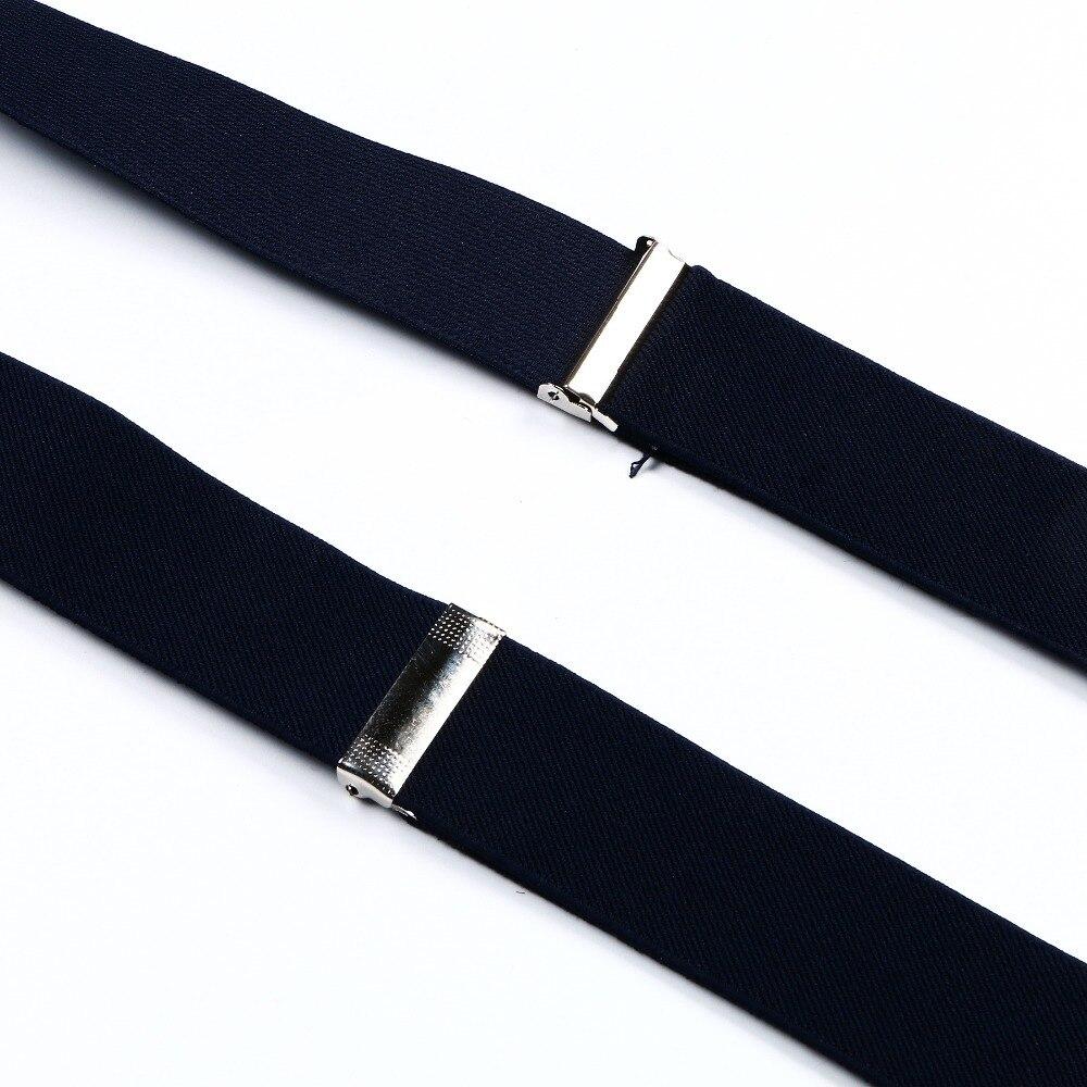 Мужские темно-синие подтяжки унисекс подтяжки для женщин Регулируемый эластичный ремень кожаный подтяжки 6 пуговиц отверстие бандаж для взрослых Gallus BD707