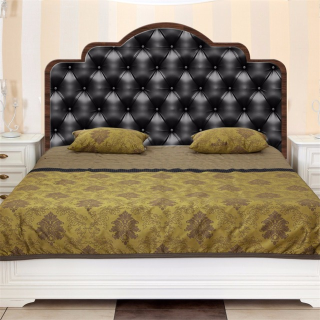 Yanqiao Modern Faux Leather Headboard Bedroom Wall Sticker Home Mural Decal  Art Decor Peel And Stick