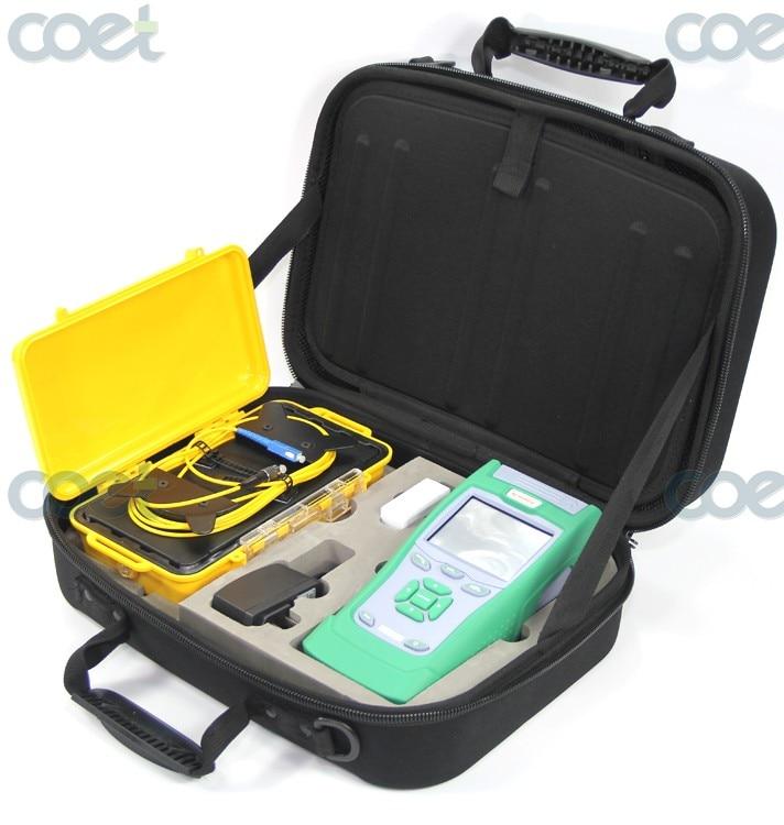 KomShine KQL-40 Optical Fiber Test Kit plus QX40 OTDR Fiber Tester and 500M SM OTDR Launch Cable Box