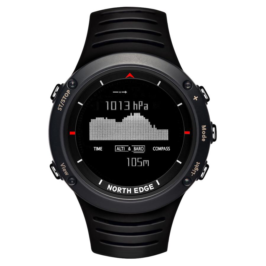Prix pour North edge hommes de sport numérique montre heures de course de natation sport montres altimètre baromètre boussole thermomètre météo hommes