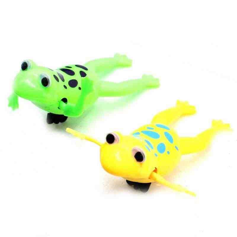 Venda quente Dinâmico Relaxar Swimming Frogs Clockwork Sapo Banho Do Bebê de Brinquedo Brinquedo Wind Up Toy For Kids Presente Das Crianças