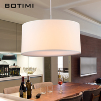 BOTIMI LED Pendant Lights For Dining Cloth Kitchen Lampadario Vintage White Hanging Lamp Indoor Luminaria Light Fixtures