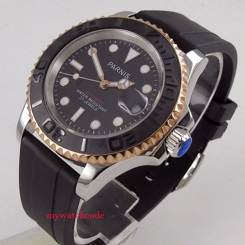 41mm Parnis black dial Sapphire glass 21 jewels miyota automatic mens watch 980 41mm corgeut black dial sapphire glass 21 jewels miyota automatic mens watch c14