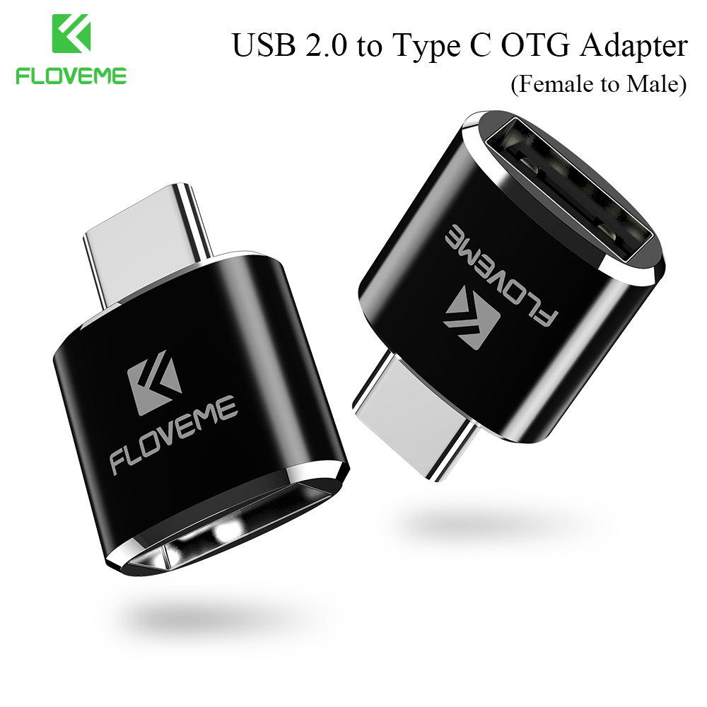 FLOVEME Micro USB to Type C Male OTG Micro Adapter For Samsung Galaxy Note 8 S8 S9 Plus Converter Adapter For Huawei Mate 9 P10