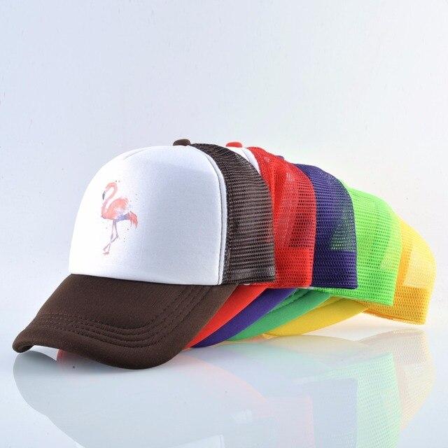 2018 Summer Baseball Cap Women Breathable Mesh Snapback Hip Hop Hat Print Flamingo Trucker Bone Men Outdoor Casual Couple Caps 3