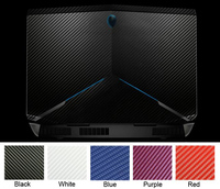 KH Laptop Carbon fiber Leather Sticker Skin Cover Protector for Alienware 17 R3 R2 ANW17 AW17R2 AW17R3 17.3 inch 2015 release