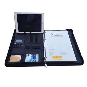 Image 3 - ファイルフォルダ A4 fichario リングバインダーケースドキュメント事務マネージャー padfolio ファイルキャビネットホルダージッパーブリーフケースバッグ