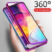 Роскошные 360 Полное покрытие чехол для телефона для samsung Galaxy A20E A50 A70 A40 A30 A10 противоударный чехол для samsung M30 M20 M10 Fundas Capa