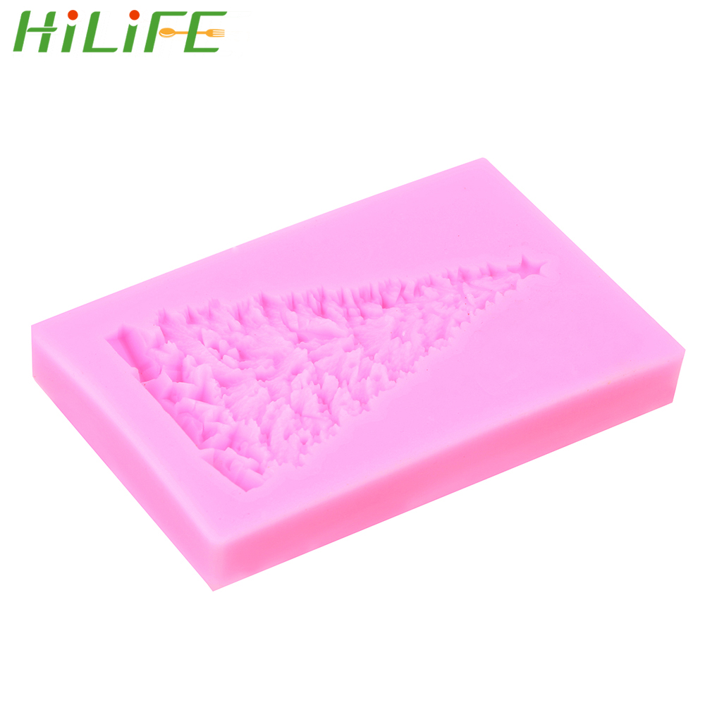 Delightful Colors And Exquisite Workmanship Novel Designs Hilife 1 Piece Kitchen Accessories Chocolate Gum Paste Mold Fondant Mould Christmas Tree Silicone Mold Cake Decorating Tool Famous For Selected Materials
