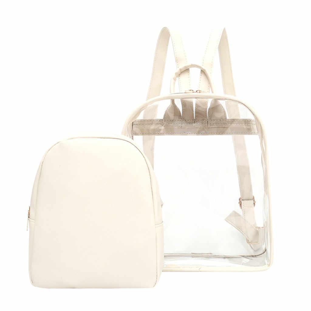 Новая мода новинка мобильного телефона мешок с застежкой-молнией для Для женщин прозрачный Пластик прозрачная прозрачность безопасности Рюкзак Сумка для путешествий
