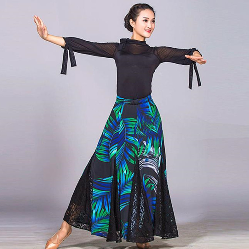 spanish flamenco dresses rumba ballroom dress women ballroom dance dresses waltz modern dance costumes top and skirt dance wear Спортивный бальный танец