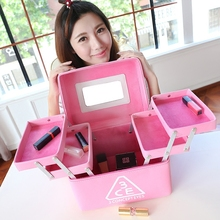 Frauen Professionelle Mehrschichtige Kosmetiktasche Super-großraum Make-Up Aufbewahrungskoffer Tragbare Wasserdichte Falten Kosmetik-box