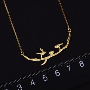 Image 3 - Lotus Spaß Echt 925 Sterling Silber Handgemachte Designer Edlen Schmuck Nette Vogel auf Zweige Halskette mit Anhänger für Frauen Collier