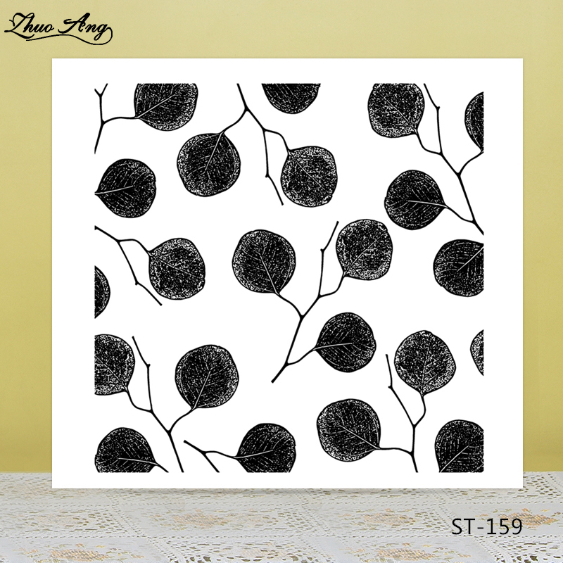 Branches and leaves Transparent silicone Stamp for DIY Scrapbooking/Photo Album Decorative Card Making Clear Stamps Supplies