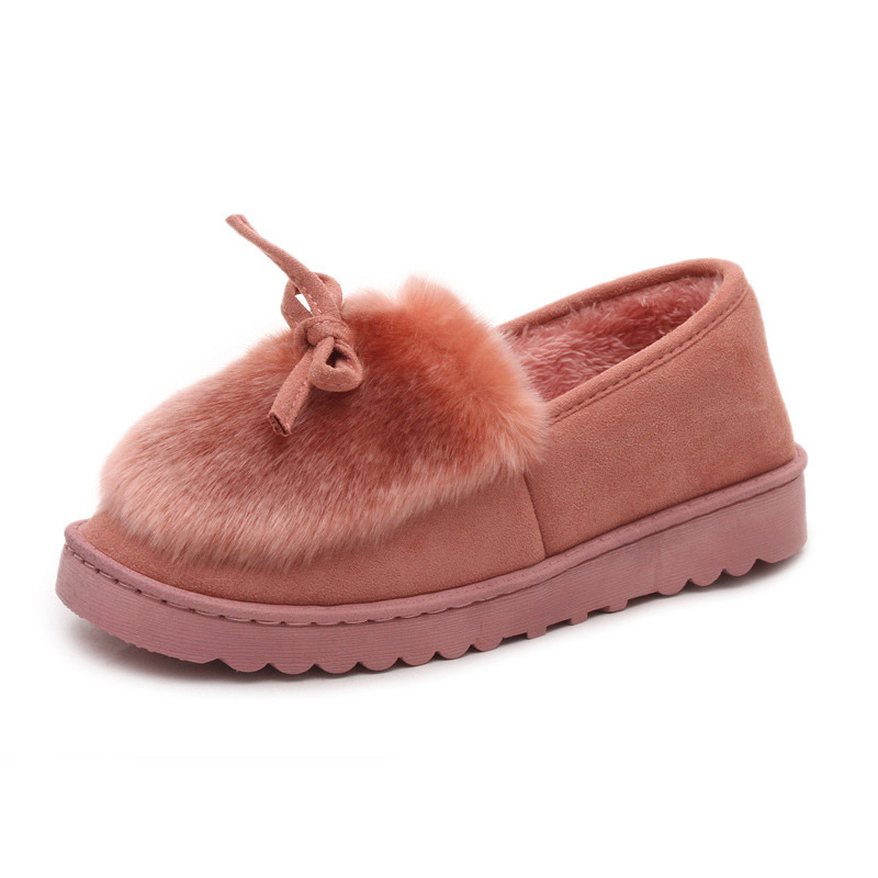 Winter Loafers Women Flats Heel Shoes Warm Fur Winter Round Toe Female Ladies Casual Slip On Zapatos De Mujer Shoes spring summer flock women flats shoes female round toe casual shoes lady slip on loafers shoes plus size 40 41 42 43 gh8