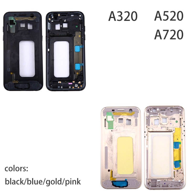 Middle Frame Plate for Samsung Galaxy A3 A320 A5 A520 A7 A720 2017 Version Mid Chassis Bezel Housing With Power Side ButtonMiddle Frame Plate for Samsung Galaxy A3 A320 A5 A520 A7 A720 2017 Version Mid Chassis Bezel Housing With Power Side Button