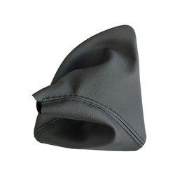Sağ El Sürüş Araba Vites Sopa Manuel Shift Boot Siyah Deri Çizme BMW 1 Serisi Için E81 E82 E87 e88 Araba Styling