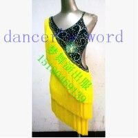 New style Latin dance costume sexy diamond tassel women latin dance competition dresses for Tango cha cha dance dresses