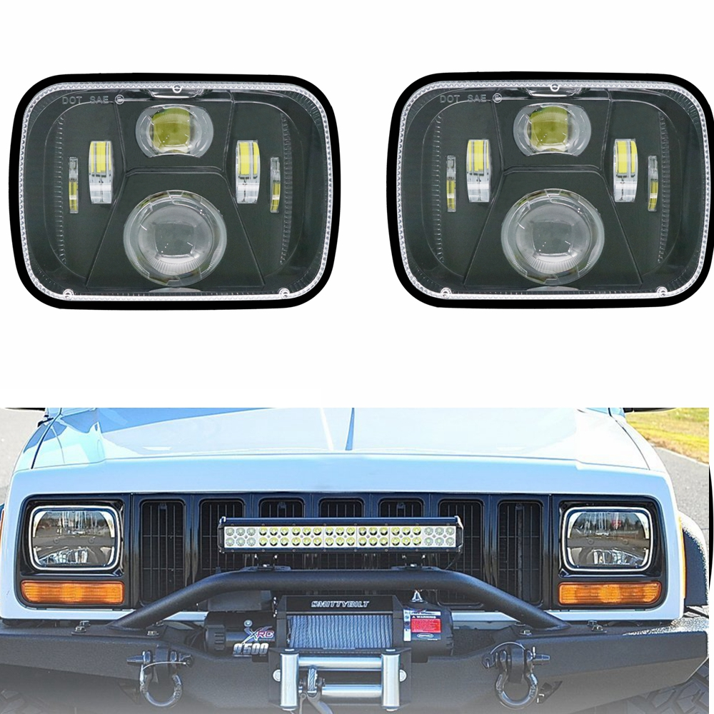 110W 5x7 Led Headlights 7x6 Led Sealed Beam Headlamp with High Low Beam H6054 6054 Led