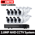 1080 P 8CH AHD DVR HD Câmera de Segurança CCTV 8 pcs bala ao ar livre Dia/Noite IR Camaras de Vigilância Kit camaras de seguridad
