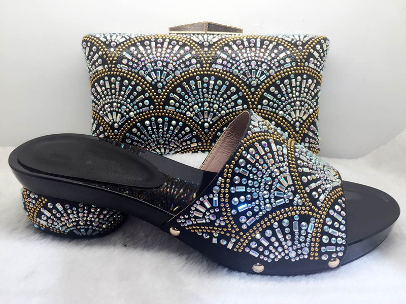 ФОТО New Arrival Italian Shoe and Bag Set African Wedding Shoe and Bag Sets Italy Women Shoe and Bag To Match for dress!HJJ1-32