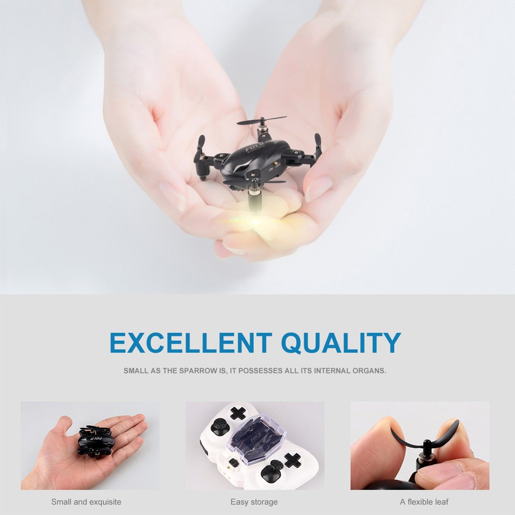 X31C 720P 2.4G Mini Folding WIFI FPV With Headless Mode Altitude Hold RC Quadcopter RC Control and Lighting Control Mode(China)