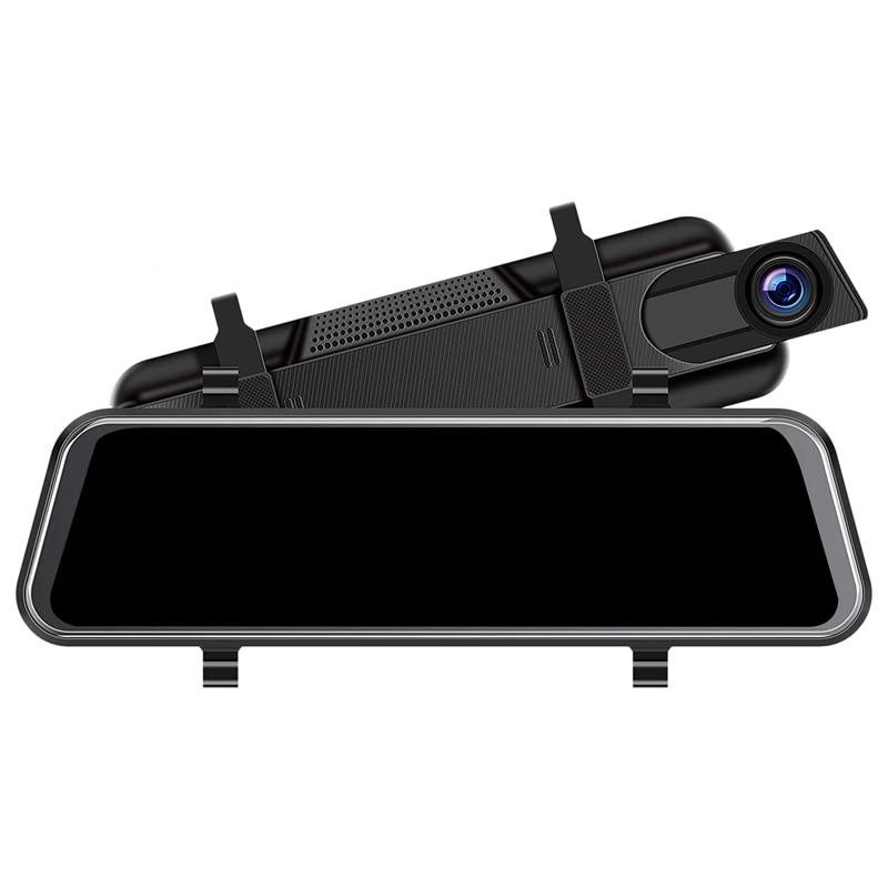 Caméra de tableau de bord miroir 10 pouces, caméra de bord écran de contact complet caméra de vue frontale avec Vision nocturne T