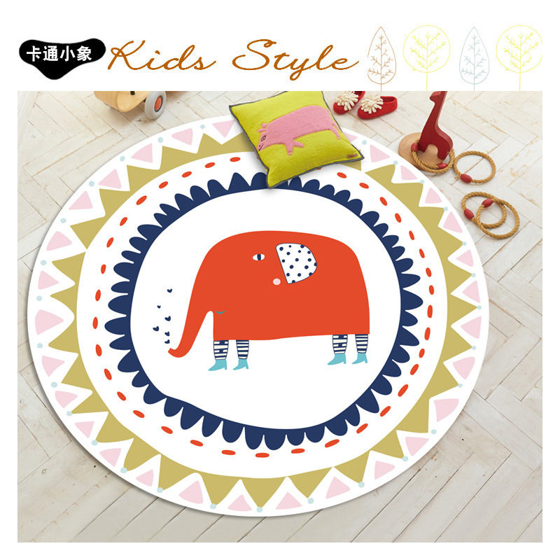 2017 new cute cartoon round rugs and carpets for living for Cute rugs for cheap