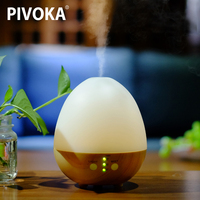 PIVOKA Electric Wood Grain Air Purifier Profumo Ambiente Aroma Humidifier Essential Oil Fragrance Diffuser LED Night