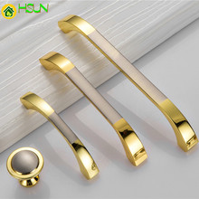цена на 2 pcs Modern Door Handles Kitchen  Knobs Furniture Hardware Wardrobe Cupboard Handle Gold Drawer Pulls