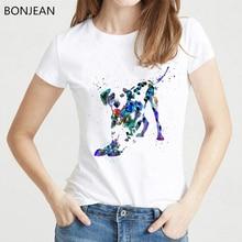 watercolor Dalmatian dog printed t shirt women clothes 2019 vogue white tshirt femme harajuku  summer tops female t-shirt