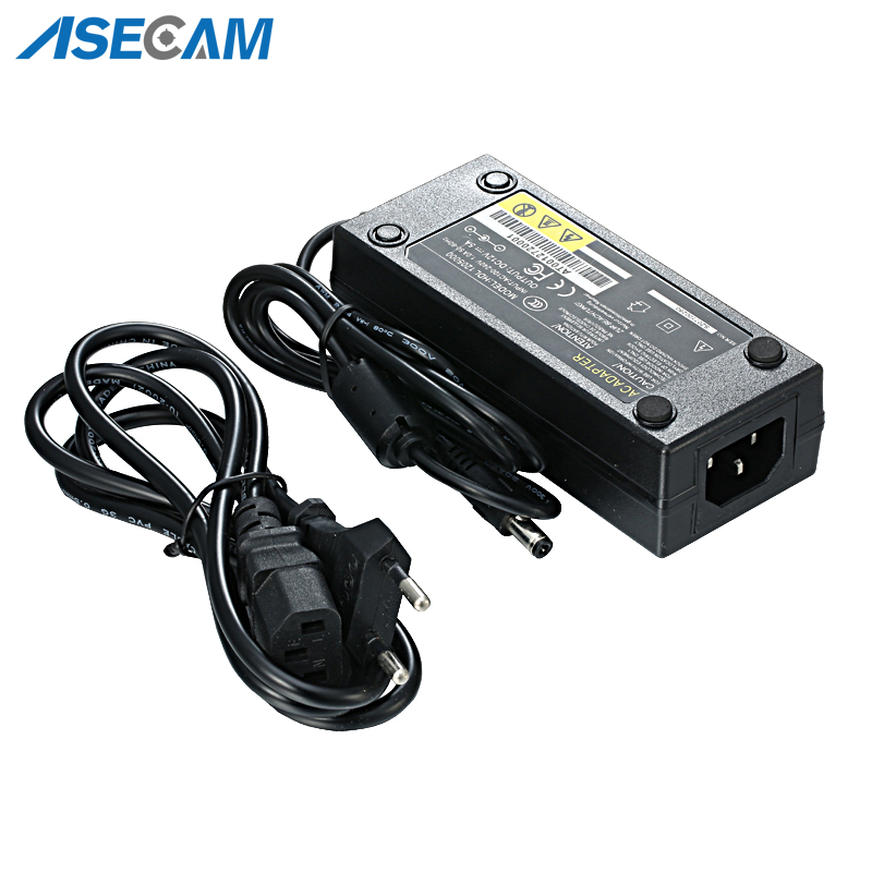 High quality Enough DC 12V 5A Power Supply for CCTV Security Camera system Converter EU US AU UK Standard Plug Adapter in CCTV Accessories from Security Protection